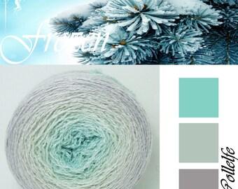 Frozen* Merino silk Gradient Yarn hand dyed - Lace weight