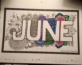 Calendar Coloring Book DIY Digital Download Project