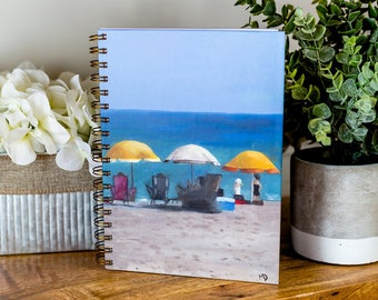 Journal//Spiral Notebook//Beach Umbrella 2//Bride To Do List//Diary//Will You Be My Bridesmaid//Personalized Gifts//Art//FREE 2-DAY SHIPPING