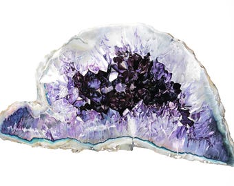Purple Geode Drawing- Limited Edition Print