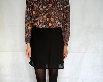 Vintage Black Mini Skirt