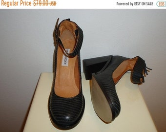50% OFF Steve Madden Vintage Black Leather Mary Janes, Sz.7 Free Shipping