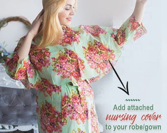 Add attached nursing cover to the robe of your choice