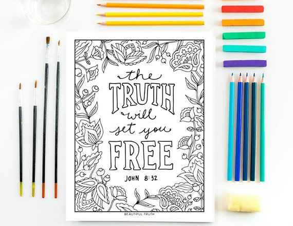 The Truth Will Set You Free Printable Coloring Page