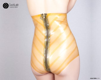 Latex Briefs With Chevron Appliqué