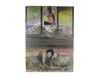 "Symbolic Polish Oil Painting after Jacek Malczewski ""Model in Studio"""