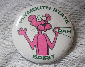 Plymouth State Spirit Pink Panther Pinback Button