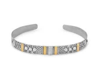 Handmade Sterling Silver Balinese Cuff Bracelet