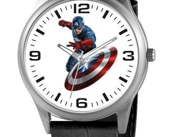 Personalized Watch with Captain America, Custom Watch