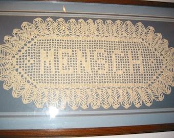 Nom crocheté à la main personnalisé napperons - napperon au Crochet en nom - personnalisé personnalisé napperon - Crochet personnalisé nom - lettres - cadeau