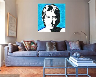 A Unique Canvas  Of Beatles  Legend John Lennon