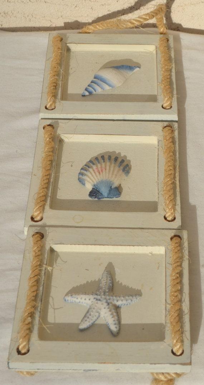 Conjunto de 3 mano pintado caracol de mar Shell estrella de mar ...