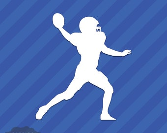 Football Player Quarterback Vinyl Decal Sticker