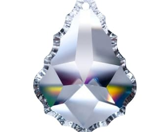 5 Clear Lead Crystal Asfour 50mm French Cut Chandelier Crystals Pendant Prisms