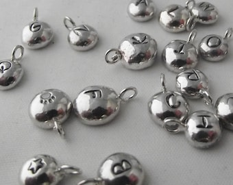 Unique Handmade Solid Sterling Silver Bubble Personalised Nugget Charm