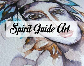 A unique spirit guide painting, a psychic artwork of your own spirit guide and 3 card tarot reading in answer to a question you put to them.