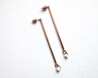 copper . pipe . earrings