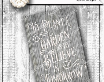 Garden Cutting design Country Vintage Vinyl Stencil Inspirational quote SVG Cut File Cricut design Space, Silhouette Studio Easy Weed