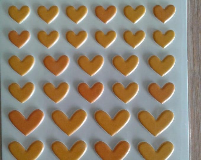 Bella blvd orange mix puffy sticker hearts