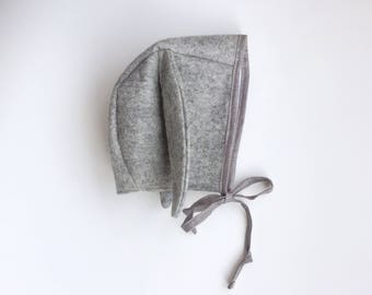 Baby Rabbit Baby and Toddler  Bonnet 100% wool