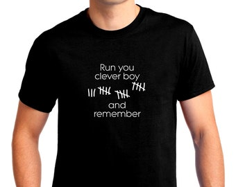 Doctor Who? Run Clever Boy and Remember T-shirt Men Short Sleeve