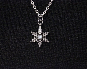 Once Upon a time Anna Necklace handmade silver Frozen Snowflake