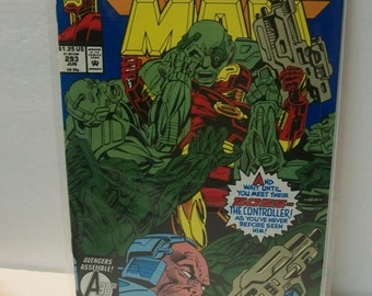 1993 Iron Man #293  The Controller  Very Good Condition  Vintage Marvel Comic Book