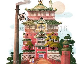 The Bathhouse - Illustration Print