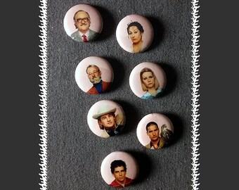 Royal Tenenbaums Magnets ~ 7-pack