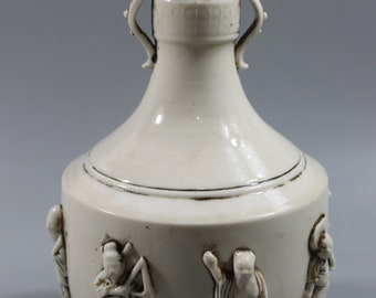 Elegant White Porcelain Eight Immortal Vase  M107