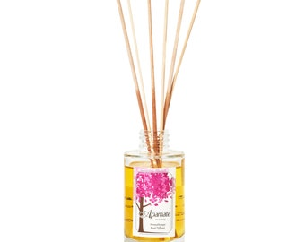 Reed diffuser with Cinnamon and Orange Aromatherapy essential oils. Room diffuser for your studio or hall. Perfect gift for a housewarming
