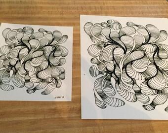"Professional print of ""Doodle"", original hand drawn sharpie art. 8x10in"