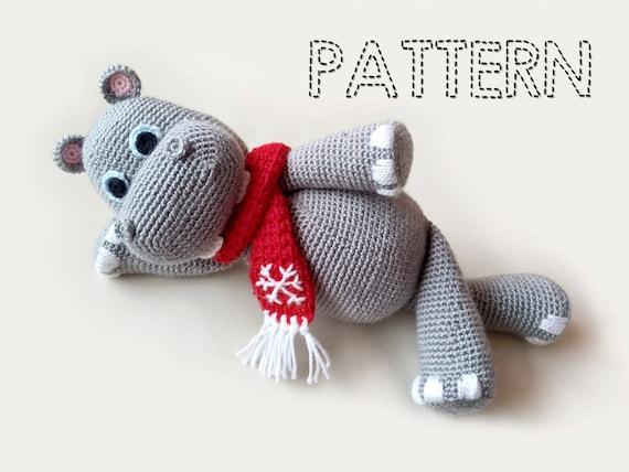 Amigurumi Patterns For Sale : Sale christmas crochet hippo patterns hippopotamus crochet