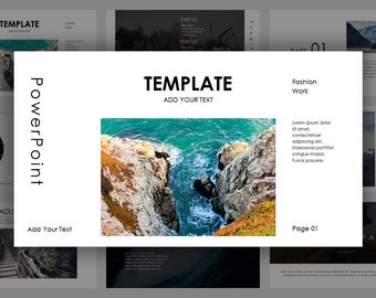 Simple Magazine Style PowerPoint Template