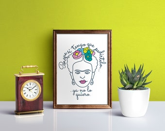 PRINTABLE QUOTES - Frida Love // print it anywhere you want  // Frida Kahlo