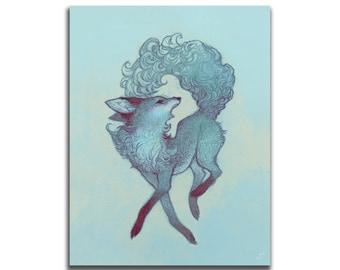 Frosty 8.5 x 11 Art Print