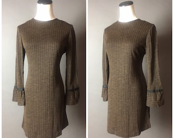 Vintage 60s dress / 1960s dress / 60s dress / shift dress / pin stripe dress / mini dress / party dress / day dress / DEADSTOCK NOS / 8488