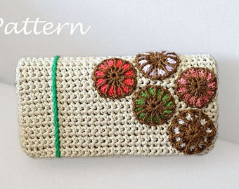 CROCHET PATTERN Crochet Bag Pattern crochet purse pochette pattern woman bag, evening bag, summer bag, handbag, crochet bag. clutch