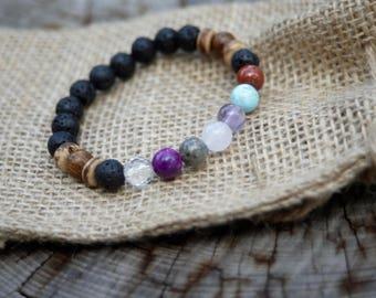 Modern Chakra Bracelet - Yoga Bracelet - Bracelet for Her - Bracelet for Him - Meditation Bracelet