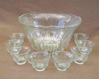 Punch Bowl with Eight Cups