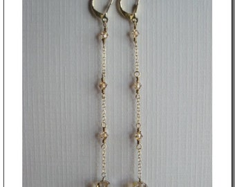 Single Ball Duster Earrings - made with Swarovski Crystals