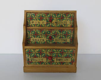 Hand Painted Sewing Supplies Chest