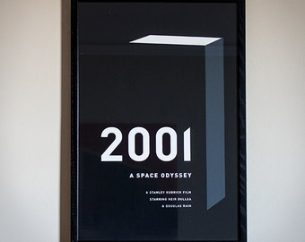2001: A Space Odyssey Minimal Movie Poster - Limited Screenprint