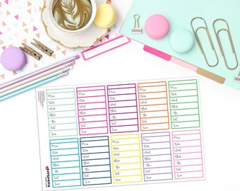 WEEKLY TASK BOXES Paper Planner Stickers!