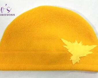 Pokemon Go Hat - Team Instinct - Pokemon Fleece Hat - Super Cozy Beanie