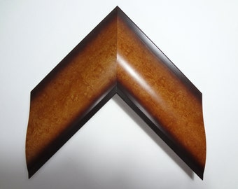 """Wide Wood Frame, Honey and Dark Brown, 3"""" Wide, Made to order"""