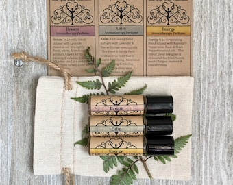 Aromatherapy gift set meditation oils stress relief gift relaxation gift anxiety relief kit coworker gift gift for mom charka oils calming