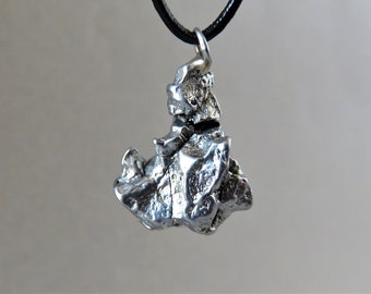 Pendant campo del cielo meteorite-1 piece with certificate-Oktaedrite IVA-iron meteorite