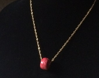 Coral bead on Goldfilled necklace