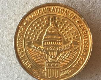 "Designer ""Ben Silver"" Blazer Buttons political inauguration of Ronald Reagan George Bush Gold Tone"